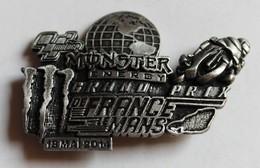 Broche Médaille Course Moto Grand Prix De France Le Mans 2014 Monster Energy Signé - Motos