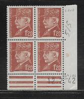 FRANCE  ( FCD4 - 212 )  1941  N° YVERT ET TELLIER  N° 515  N** - Coins Datés