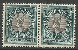 South Africa - 1947 Springbok Bilingual Pair 1/2d MNH **     SG 114   Sc 47 - Unused Stamps