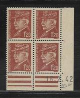 FRANCE  ( FCD4 - 215 )  1941  N° YVERT ET TELLIER  N° 515  N** - Coins Datés