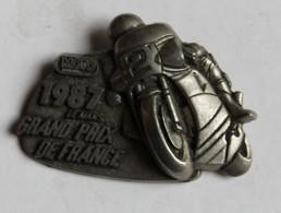 Broche Médaille Course Moto Grand Prix De France Le Mans 1987 - Motos