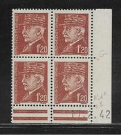 FRANCE  ( FCD4 - 216 )  1941  N° YVERT ET TELLIER  N° 515  N** - Coins Datés