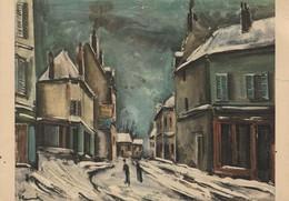 Vlaminck Rue De Village Sous La Neige 2 Scans) - Malerei & Gemälde