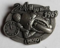Broche Médaille Course Moto 24 Heures Du Mans 1989 - Motos