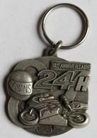 Broche Médaille Course Moto 24 Heures Du Mans 10° Anniversaire 1988 - Motos