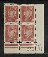 FRANCE  ( FCD4 - 221 )  1941  N° YVERT ET TELLIER  N° 515  N** - Coins Datés