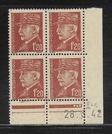 FRANCE  ( FCD4 - 222 )  1941  N° YVERT ET TELLIER  N° 515  N** - Coins Datés