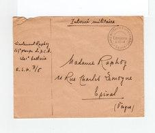 Enveloppe Interné Militaire Français En Suisse 1940. Cachet Camp Militaire D'internement Lausanne ESM Suisse. (2341x) - WW II