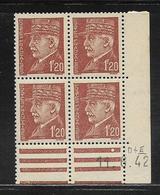 FRANCE  ( FCD4 - 223 )  1941  N° YVERT ET TELLIER  N° 515  N** - Coins Datés
