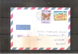 Animaux Et Papillons - Lettre Du Burkina Faso Vers La Belgique - 1987 - Burkina Faso (1984-...)