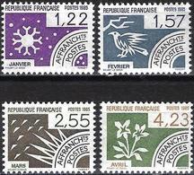 France 1985 - Mi 2479/82 - YT Po 186/89 ( Precancelled : Months )  MNH** - Complete Issu - 1964-1988