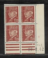 FRANCE  ( FCD4 - 225 )  1941  N° YVERT ET TELLIER  N° 515  N** - Coins Datés