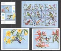 R1559 CONGO FLORA & FAUNA BIRDS COLIBRI HUMMINGBIRDS  !!! 1KB+2BL+1SET MNH - Colibris