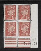 FRANCE  ( FCD4 - 226 )  1941  N° YVERT ET TELLIER  N° 515  N** - Coins Datés