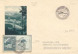 1947 (Cecoslovacchia) Busta Pubblicitaria, Affrancata E Con Annullo Speciale - Czechoslovakia