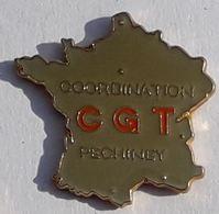 SY268 Pin's Syndicat CGT Pechiney Saint Gobain Carte De France - Amministrazioni