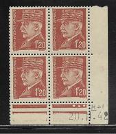 FRANCE  ( FCD4 - 232 )  1941  N° YVERT ET TELLIER  N° 515  N** - Coins Datés