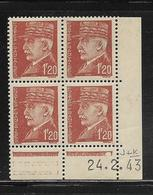FRANCE  ( FCD4 - 233 )  1941  N° YVERT ET TELLIER  N° 515  N** - Coins Datés