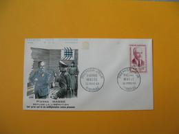 FDC 1960  France  N° 1249   Héros De La Résistance  Pierre Masse   Cachet Riberac - FDC