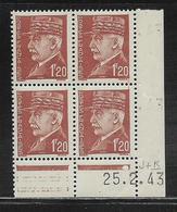 FRANCE  ( FCD4 - 234 )  1941  N° YVERT ET TELLIER  N° 515  N** - Coins Datés