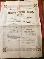 ARAGON  COPPER  MINES , LIMITED -----Titre De 10 Actions Ordinaires - Bergbau