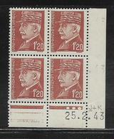 FRANCE  ( FCD4 - 235 )  1941  N° YVERT ET TELLIER  N° 515  N** - Coins Datés