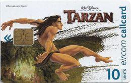 Ireland - Eircom - Tarzan Leaping - 10Units, 11.1999, 75.000ex, Used - Ireland