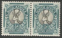 South Africa - 1947 Springbok Bilingual Pair 1/2d MH *     SG 114   Sc 47 - South Africa (...-1961)
