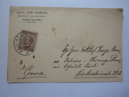 "Cartolina Postale Viaggiata ""Dott. EZIO BARONI Medico Chirurgo TRIUGGIO"" 1926 - Storia Postale"