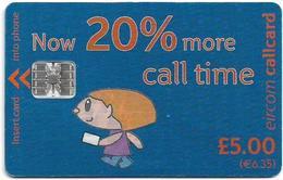 Ireland - Eircom - Simply Talk 20% More, 5£, 2001, Used - Ireland