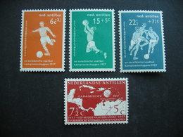 Netherlands Antilles Caribbean Soccer 1957 MH - Ongebruikt