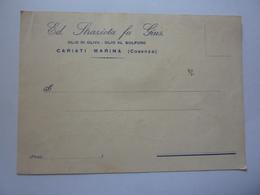 """Cartolina Postale Viaggiata """"Ed. STRAZIATA FU GIUS. OLIO DI OLIVA - OLIO AL SOLFURO, Cariati Marina ( Cosenza )"""" 1933 - Storia Postale"""