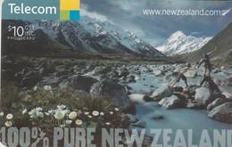 TARJETA TELEFONICA DE NUEVA ZELANDA, Aoraki, Mount Cook, 100% PURE NEW ZEALAND, Nº163. NZ-C-144. (047) - Neuseeland