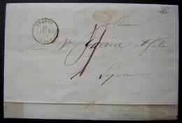 Grane (Drôme) 1848 Lettre Avec Défaut Sur Le Cachet à Date, Voir Photos - Marcophilie (Lettres)