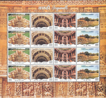 INDIA 2017 STEP WELLS Stepwells, Stepwell, 5 SCANS 80 Stamps In 5 Sheetlets,16 Diff X 5 Sets MNH(**) - Ungebraucht