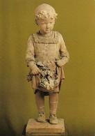 Colmar Musée Bartholdi Petite Fille Aux Fleurs Par Auguste Bartholdi (2 Scans) - Fine Arts