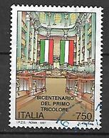 Italy 1997 The 200th Anniversary Of The First Italian Tricolor  Used - 1991-00: Oblitérés