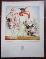 MENU ITALIA LLOYD TRIESTINO ADRIATICA TIRRENIA MOTONAVE EUROPA ANNO 1953 MASCHERE DI VERONA ILLUSTRATORE VENEZIANI - Menu