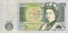 One Pound Bank Of England  VF/F (III) - 1952-… : Elizabeth II.