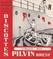BUVARD BISCOTTES PILVIN BREST FINISTERE COLLECTION MARINE LES MANŒUVRIERS BOSCOS - Biscottes