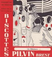 BUVARD BISCOTTES PILVIN BREST FINISTERE COLLECTION MARINE LES DETECTEURS - Zwieback