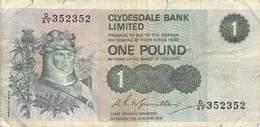 One Pound Schottland 1979  VF/F (III) - [ 3] Schottland