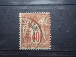 VEND BEAU TIMBRE DE FRANCE N° 70 !!! (b) - 1876-1878 Sage (Type I)