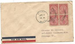 USA Massachussetts Tercentenary FDC With 4 Pcs Boston - 1851-1940