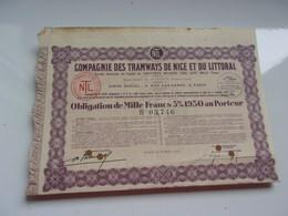 Compagnie Des TRAMWAYS DE NICE ET DU LITTORAL - Shareholdings