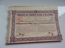 Compagnie Des TRAMWAYS DE NICE ET DU LITTORAL - Aandelen