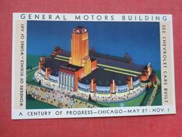 General Motors Building Century Of Progress  Chicago Back Side  Glue Residue     Ref 3399 - Exhibitions