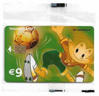 Portugal - PT - Euro 2004 Football Champ - Athlete (Green), - PT407 - 9€, Chip Gem, 01.2004, 100.000ex, NSB - Portugal