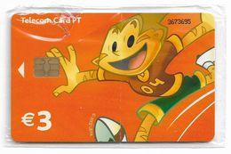 Portugal - PT - Euro 2004 Football Champ - Athlete (Orange), - PT405 - 3€, Chip Siemens, 01.2004, 416.000ex, NSB - Portugal
