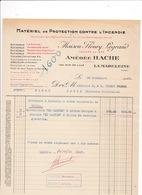 Facture 1930 Matériel Protection Contre Incendie Amédée Hache (anc. Fleury Legrand), Rue De Lille, La Madeleine (Nord) - Electricity & Gas